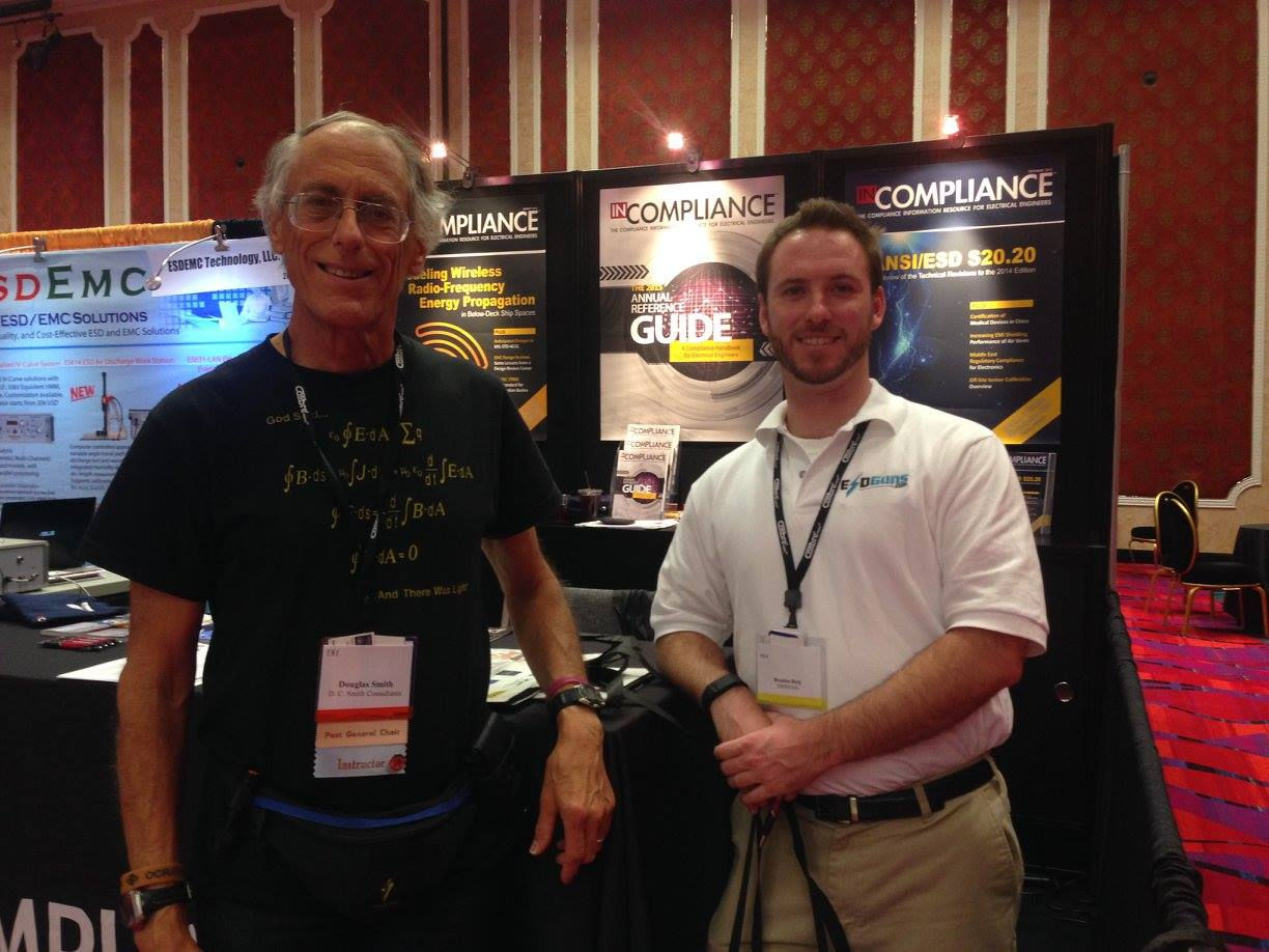 Brendon Berg & Doug Smith from EMCESD at the InCompliance Magazine Booth